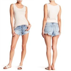 We The Free People Distressed Cutoff Jean Shorts